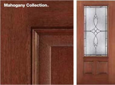 Fiber-Classic Mahogany Door