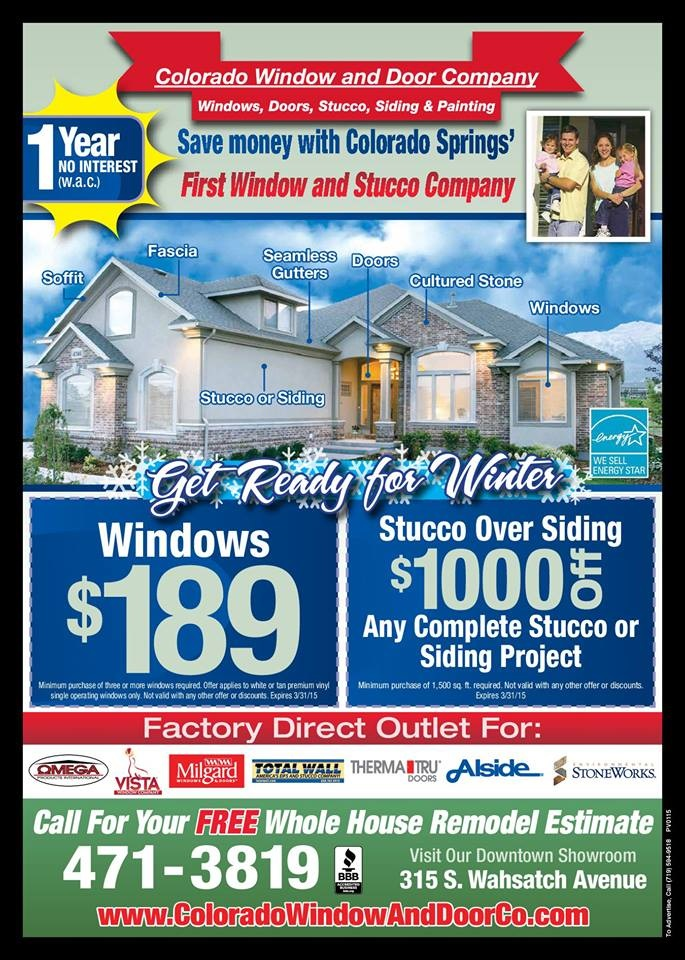 Specials Colorado Window And Door Company