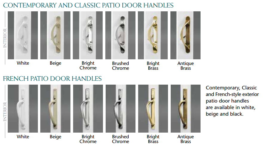 Mezzo Patio Door Handle Options